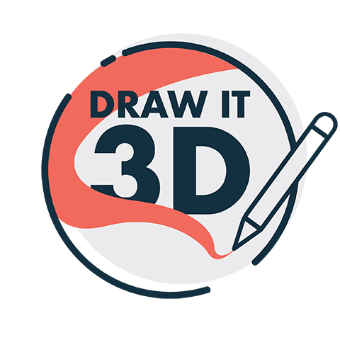 draw it 3d logo