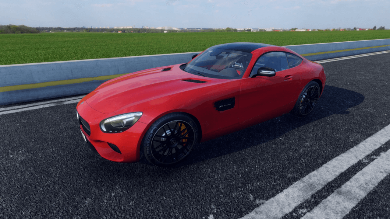 Red Mercedes AMG GT