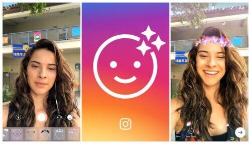 Instagram Snapchat'in yüz filtreleri özelliğini kopyaladı